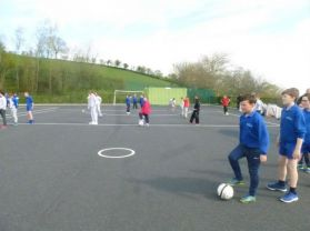 Shared Education Soccer coaching with the IFA