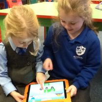 P1 love using iPads to help us with our learning.