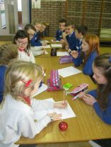 P6 classes team up with Holy Family.