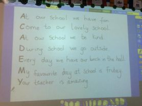 Look at our class poem about our school