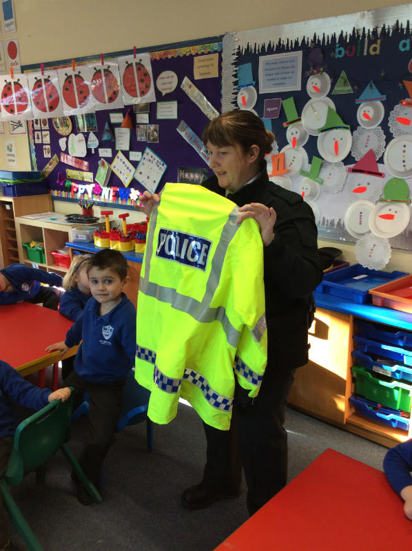 We saw the Police special 'High Vis' jacket. We know what 'High Vis' means now.
