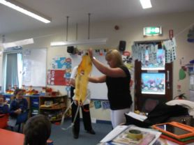 P1 had a visit from a flight attendant and a pilot.