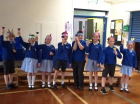 P5K showed off their musical talents in assembly performing the tune 'Indian Warrior'.
