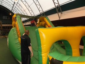 Inflatable obstacle course.